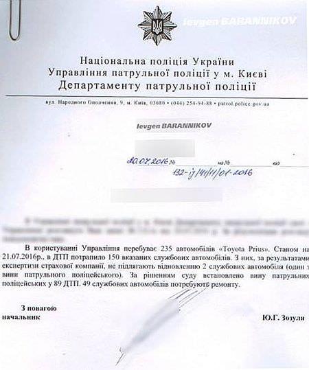 Милиционеры разбили больше служебных автомобилей, чем полицейские, - Деканоидзе - Цензор.НЕТ 2695